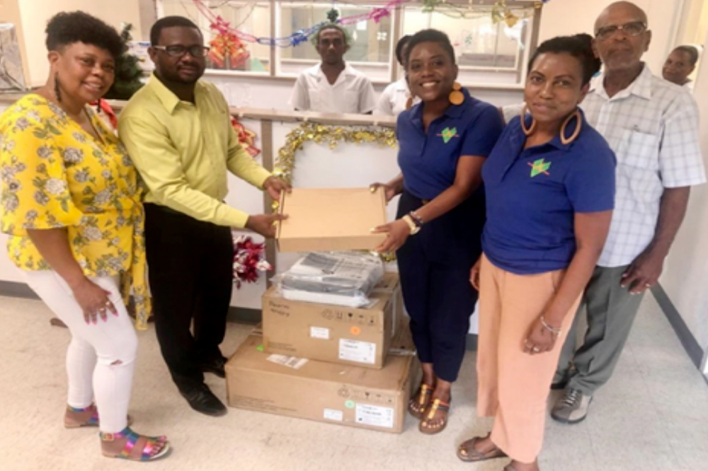 Vincentians in Toronto donate ECG Machine to Chateaubelair Hospital