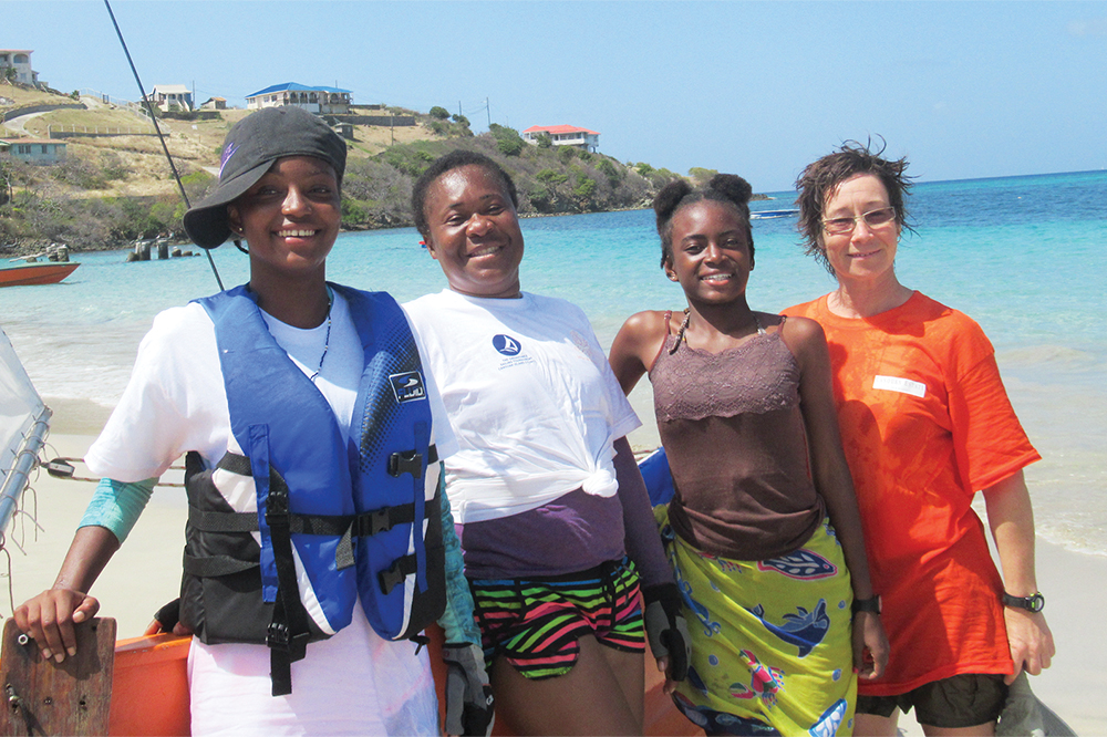 First all-female boat crew  for Bequia  sailing  tournament