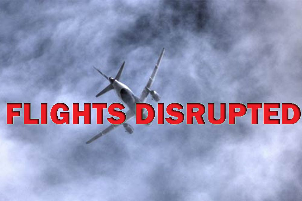 Flights disrupted because of Tropical Storm Don