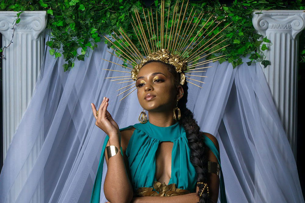 Miss Vincentian Chocolate  Megan Greaves  Gaia- Goddess of Earth Miss SVG 2019