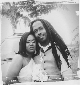Happy anniversary to Easton and Shante Robertson