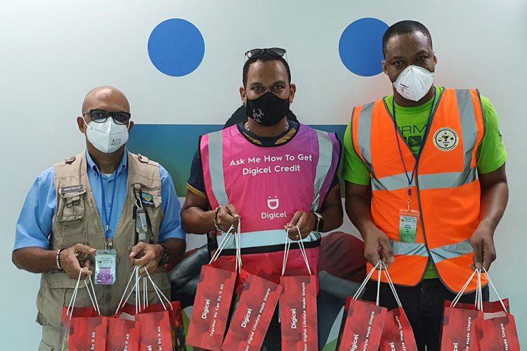 Digicel donates smartphones to assist CDEMA's relief efforts in SVG