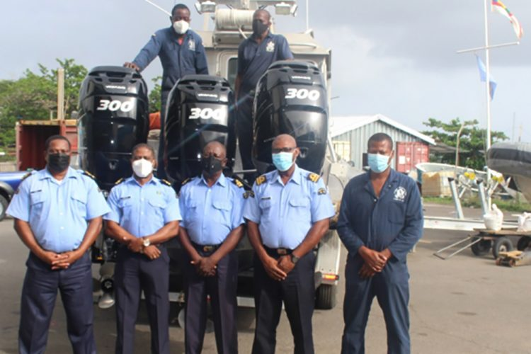 SVG Coast Guard receives new engines from Dominica