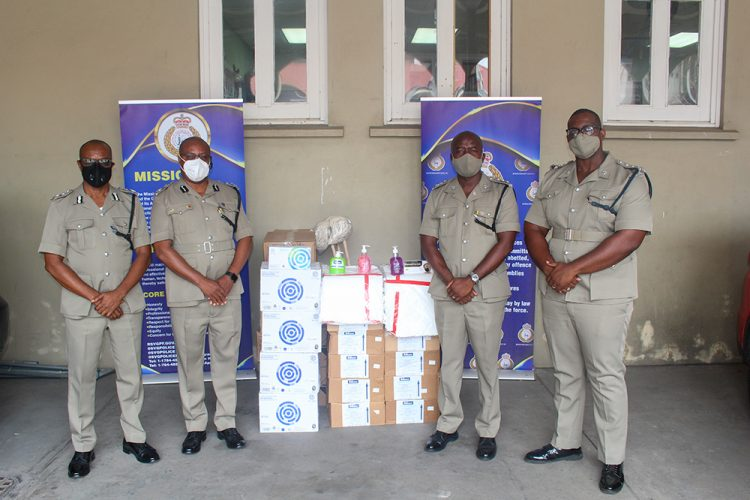 Police receive COVID19 supplies from UNDP
