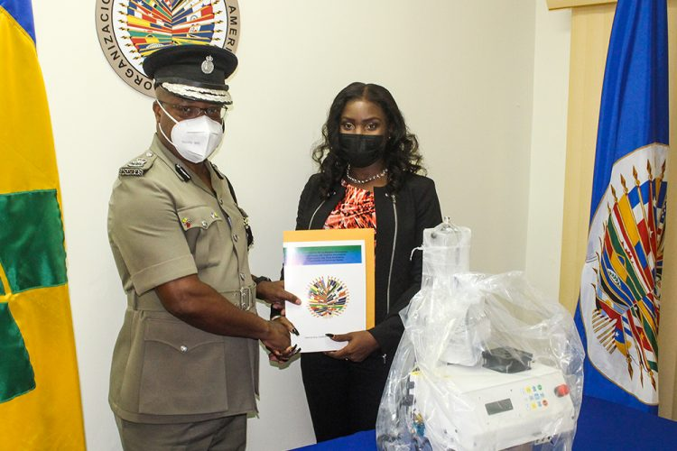 OAS donates firearms marking machine to the RSVGPF