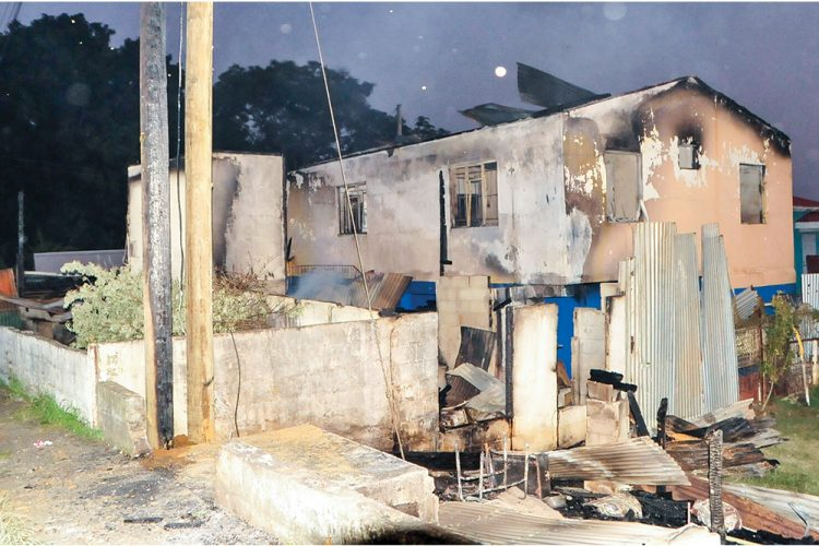 Fire guts homes; leaves 'Bad I ' with nothing