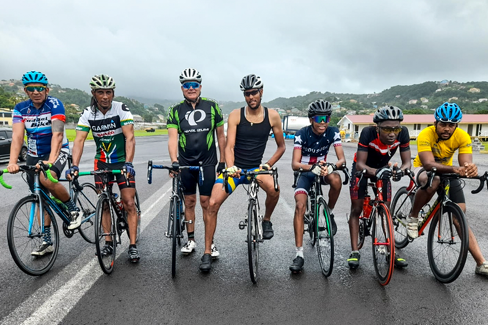 Cyclists warm for Sunday's road race