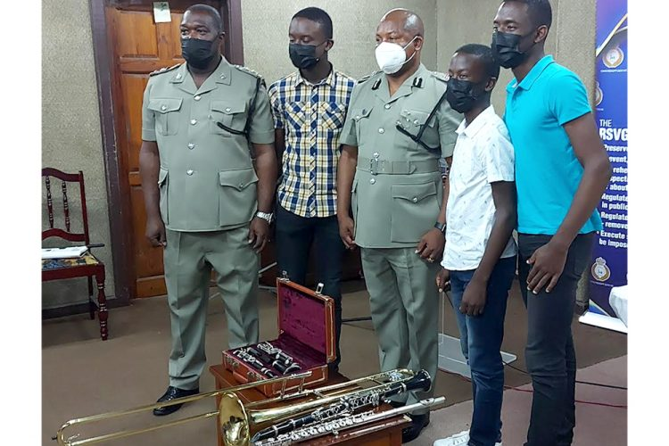 Melisizwe brothers donate musical Instruments to the police