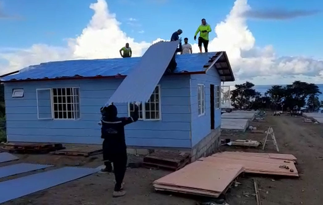 Pre-fab houses at Orange Hill nearing completion + Video