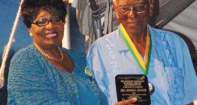 Dr Adams honoured at National Literary Fair