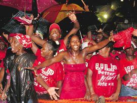 ULP jams despite tropical wave