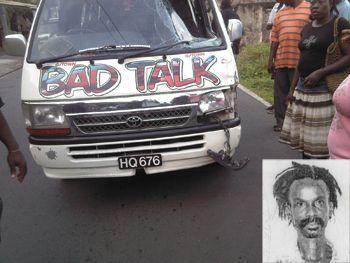 Colonarie man struck by passenger van