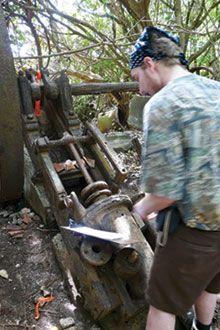 Work wraps on old Argyle Sugar Mill