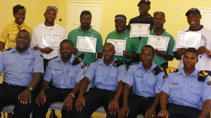 Nine receive certificates after Coast Guard training