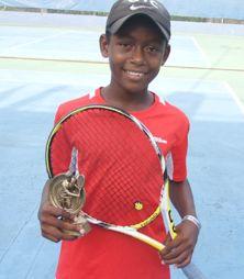 Byera Hill tennis player champs in Antigua tournament