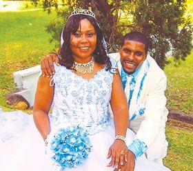 A beautiful couple celebrating 2 years of marital bliss