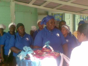 Mt Sanai Spiritual Baptist Church donates to the elderly