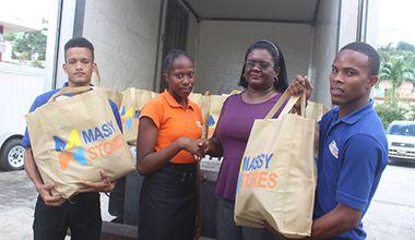 Massy Stores bring help to North  Leeward residents