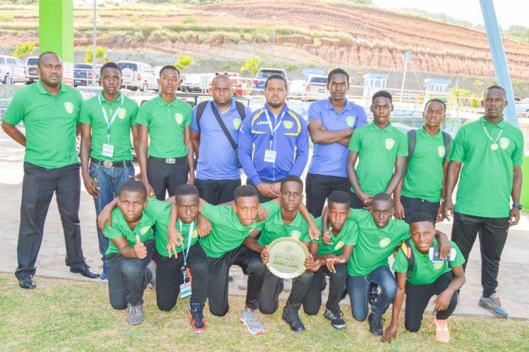 SVG U-14 male footballers take CFU challenge shield