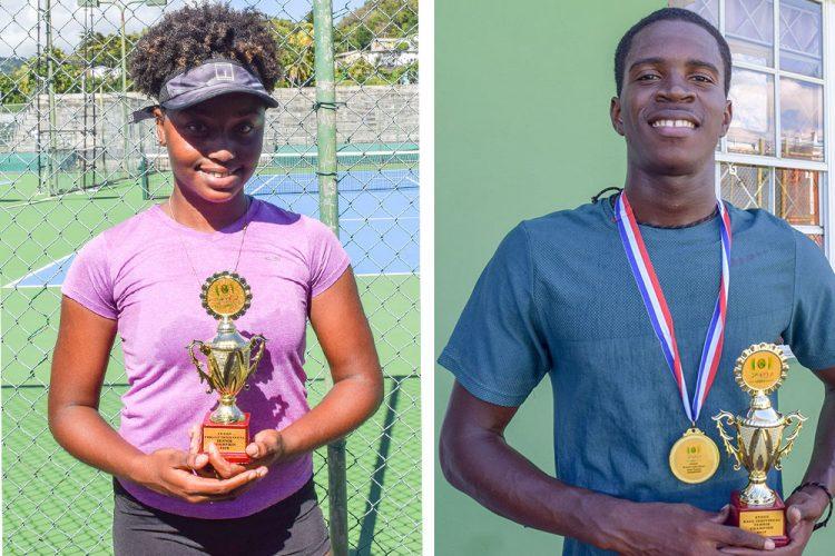 Richard Hoyte, Gabrielle Benn win  SVGCC's individual tennis titles
