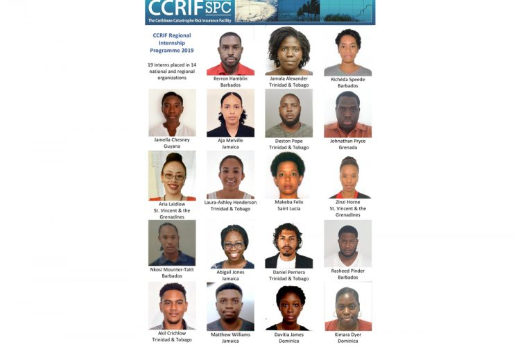 CCRIF grants 19  university graduates  an internships at  host organizations