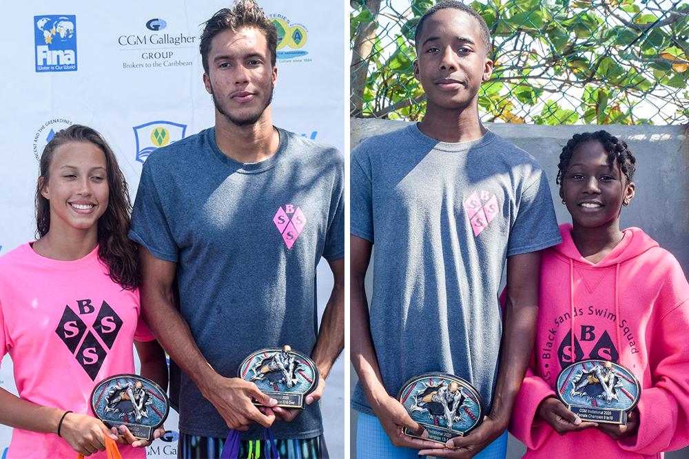 Siblings trump titles at CGM Gallagher invitational swim championships