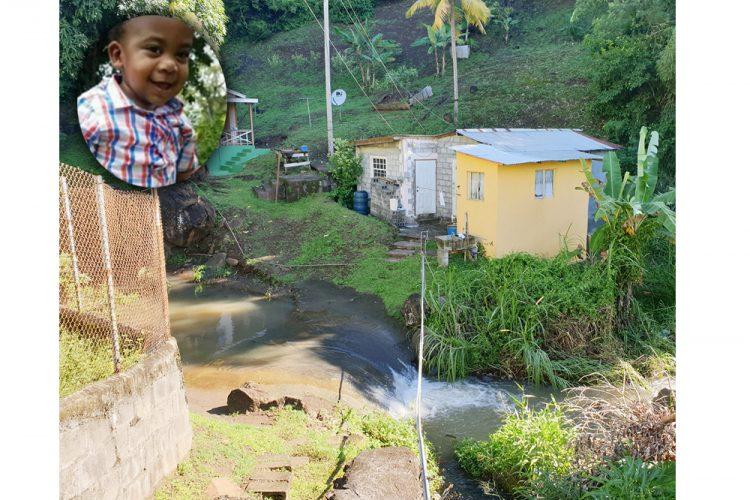 Child swept away  in flood